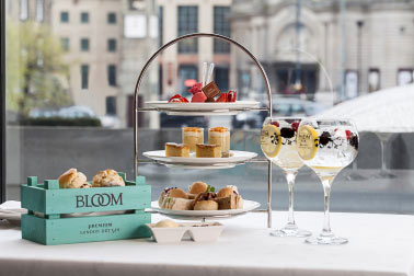 The Bloom Gin Afternoon Tea at One Square: summer is here.