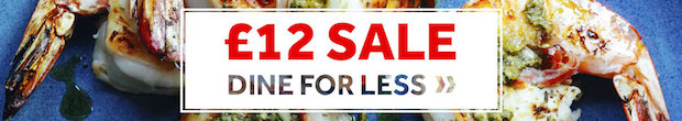 £12 Sale - Dine For Less