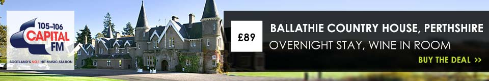 £89 for a luxurious Overnight Stay at 4* Ballathie House Hotel
