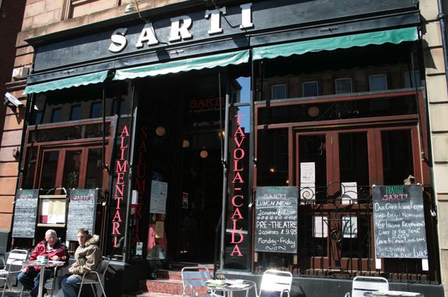 Sarti Restaurant Wellington Street Glasgow